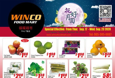WinCo Food Mart (HWY 7) Flyer September 17 to 23