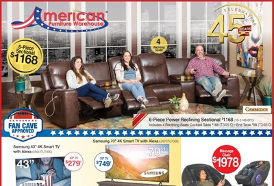 American Furniture Warehouse (AZ) Weekly Ad September 16 to October 6