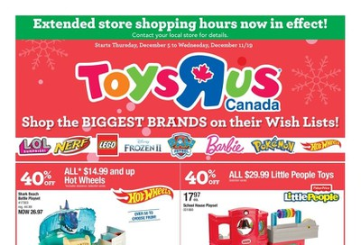 Toys R Us Flyer December 5 to 11