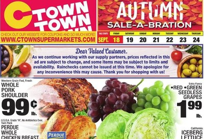 C-Town Weekly Ad September 18 to September 24