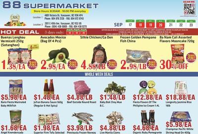 88 Supermarket Flyer September 17 to 23