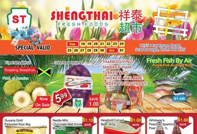 Shengthai Fresh Foods Flyer September 18 to October 1