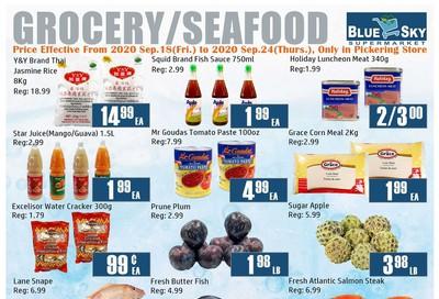 Blue Sky Supermarket (Pickering) Flyer September 18 to 24