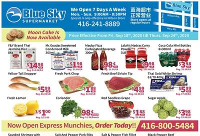 Blue Sky Supermarket (North York) Flyer September 18 to 24