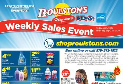 Roulston's Pharmacy Flyer September 18 to 24