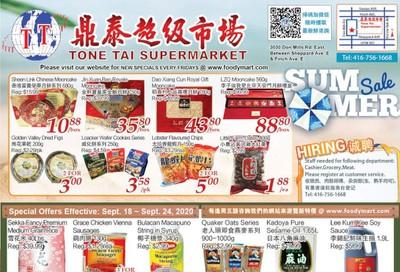 Tone Tai Supermarket Flyer September 18 to 24