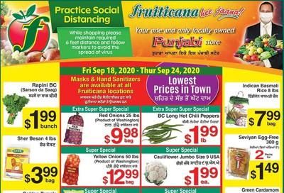 Fruiticana (Calgary) Flyer September 18 to 24