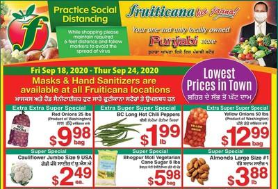 Fruiticana (Edmonton) Flyer September 18 to 24