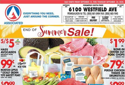 Associated Supermarkets Weekly Ad Flyer September 18 to September 24