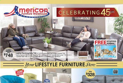 American Furniture Warehouse (TX) Weekly Ad Flyer September 16 to October 6