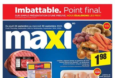 Maxi Flyer September 24 to 30
