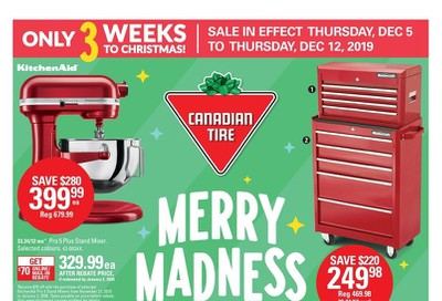 Canadian Tire (West) Merry Madness Sale Flyer December 5 to 12