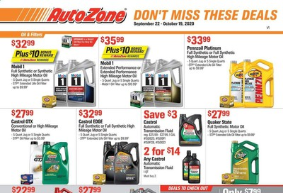 Autozone Weekly Ad Flyer September 22 to October 19