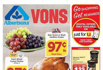 Albertsons Weekly Ad Flyer September 23 to September 29