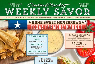 Central Market Weekly Ad Flyer September 23 to September 29