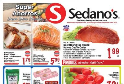 Sedano's Weekly Ad Flyer September 23 to September 29