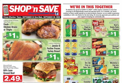 Shop 'n Save (Pittsburgh) (MD, NY, OH, PA) Weekly Ad Flyer September 24 to September 30
