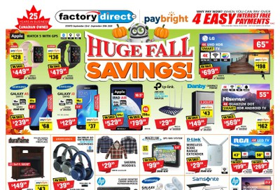 Factory Direct Flyer September 23 to 30