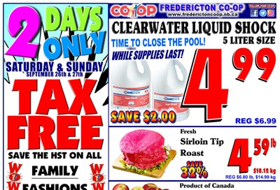 Fredericton Co-op Flyer September 24 to 30