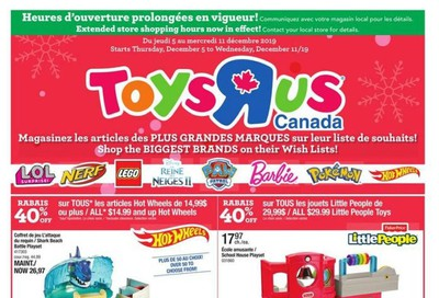 Toys R Us (QC) Flyer December 5 to 11