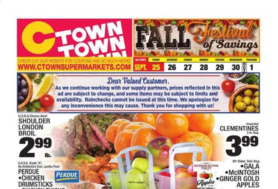 C-Town Weekly Ad Flyer September 25 to October 1