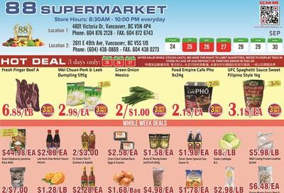 88 Supermarket Flyer September 24 to 30