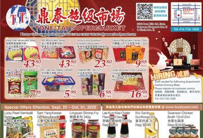 Tone Tai Supermarket Flyer September 25 to October 1