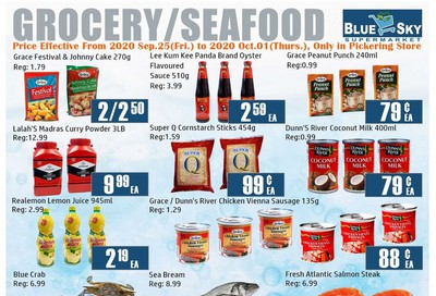 Blue Sky Supermarket (Pickering) Flyer September 25 to October 1