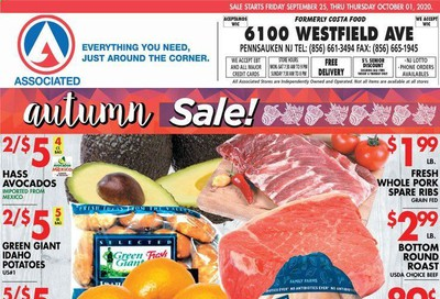 Associated Supermarkets Weekly Ad Flyer September 25 to October 1
