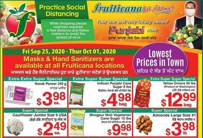 Fruiticana (Calgary) Flyer September 25 to October 1