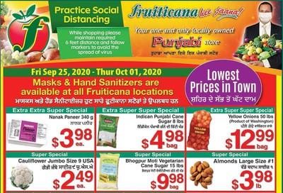 Fruiticana (Edmonton) Flyer September 25 to October 1
