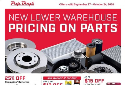 Pep Boys Weekly Ad Flyer September 27 to October 24