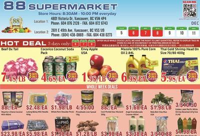 88 Supermarket Flyer December 5 to 11