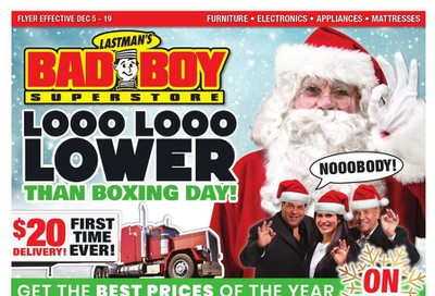 Lastman's Bad Boy Superstore Flyer December 5 to 19