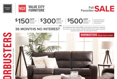 Value City Furniture Weekly Ad Flyer October 6 to October 12
