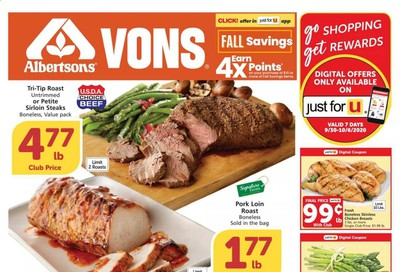 Albertsons Weekly Ad Flyer September 30 to October 6