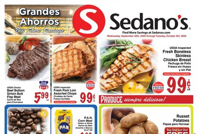 Sedano's Weekly Ad Flyer September 30 to October 6
