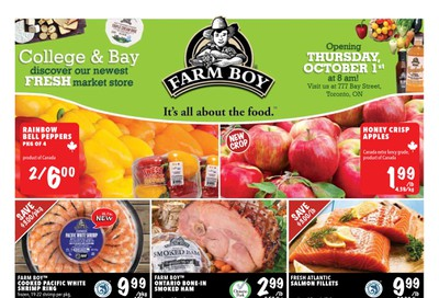 Farm Boy (Toronto) Flyer October 1 to 7