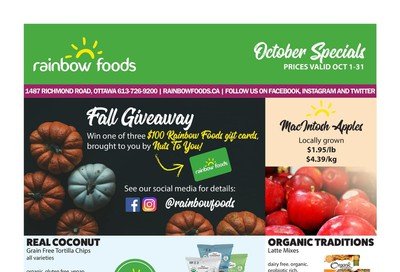 Rainbow Foods Flyer October 1 to 31