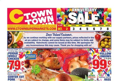 C-Town Weekly Ad Flyer October 2 to October 8