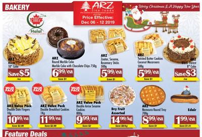 Arz Fine Foods Flyer December 6 to 12