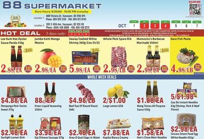 88 Supermarket Flyer October 1 to 7