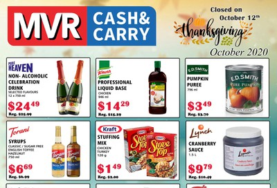 MVR Cash and Carry Flyer October 1 to 31