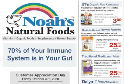Noah's Natural Foods Flyer October 1 to 31
