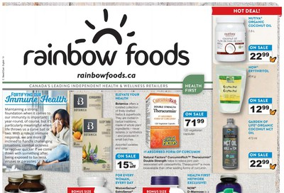 Rainbow Foods Health First Flyer October 1 to 31
