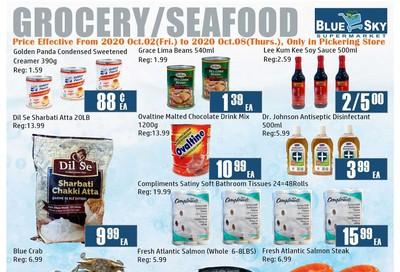 Blue Sky Supermarket (Pickering) Flyer October 2 to 8