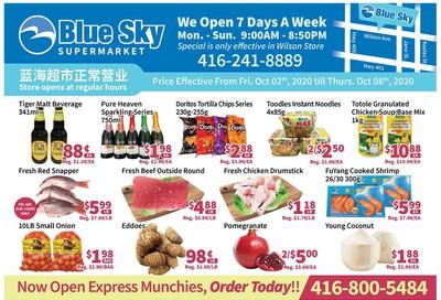 Blue Sky Supermarket (North York) Flyer October 2 to 8