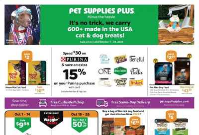 Pet Supplies Plus Weekly Ad Flyer October 1 to October 28