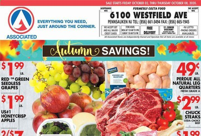 Associated Supermarkets Weekly Ad Flyer October 2 to October 8