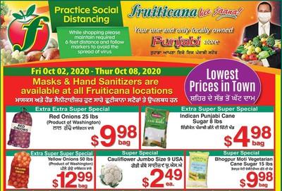 Fruiticana (Edmonton) Flyer October 2 to 8